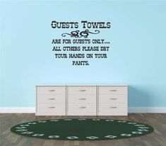 Decals  Stickers  Guest Towels Are For Guest Only All Others Please Dry Your Hands On Your Pants Living Room Bedroom Kitchen Home Decor Picture Art Image Peel  Stick Graphic Mural Design Decoration  Size  16 Inches X 16 Inches  22 Colors Available ** Be sure to check out this awesome product affiliate link Amazon.com