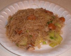 Filipino Pancit from Food.com:   								I got this recipe from my mother when I moved out of the house, because I wanted to make filipino food that she used to cook for us so that I can cook them for my family and keep passing down the recipes.  This is one of my favorites!  My family absolutely loves it. Its definitely worth all the work done to make this dish.