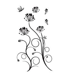 DCWV Peel & Stick Embellishments-Dandelions And SwirlsDCWV Peel & Stick Embellishments-Dandelions And Swirls,