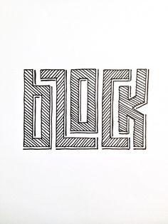block Handwritten typography 10.18.14 photo