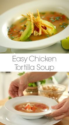 If you need a quick weeknight dinner recipe my Easy Tortilla Chicken Soup Recipe fits the bill. Chicken Soup Recipes, Healthy Soup Recipes, Crockpot Recipes, Potato Recipes, Casserole Recipes, Drink Recipes, Pasta Recipes, Keto Recipes, Vegetarian Recipes