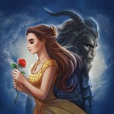 "daekazu: "" Beauty and the Beast 2017 based on poster from the brand, new movie with Emma Watson and Dan Stevens. Tomorrow is the premiere and I'm super excited! ;] """