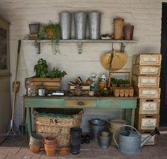 Common Ground: Vintage Inspiration Friday #42: Potting Bench Inspiration