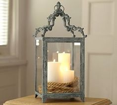 Shop Pottery Barn for hand crafted lanterns to light up any space. Our selection includes both indoor and outdoor lanterns in bronze, silver and wood finishes. Garden Lanterns, Lanterns Decor, Candle Lanterns, Light Decorations, Diy Decoration, Home Decor Hacks, Easy Home Decor, Pottery Barn, Rustic Frames