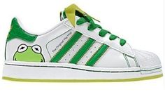 Kermit The Frog Adidas Shoes For Children | Trent Fox Denny .