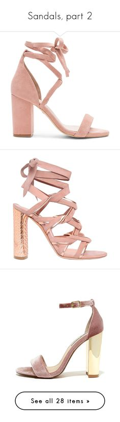 """Sandals, part 2"" by llviktoria ❤ liked on Polyvore featuring shoes, sandals, heels, sapatos, zapatos, block heel shoes, ankle strap high heel sandals, block heel ankle strap sandals, suede block heel sandals and leather sole sandals"