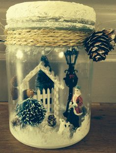Weckpot met winter- kersttafereel