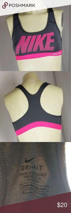 NIKE Racer Back Gray & Pink Sports Bra SZ Small NIKE  Gray and pink  Racer Back sports bra  Good condition Nike Intimates & Sleepwear Bras