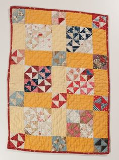 Happy colors ~ Circa Crib/Doll 20 x 14 Inches Pieced, Hand Mary Campbell Ghormley Collection Old Quilts, Antique Quilts, Scrappy Quilts, Small Quilts, Crib Quilts, Mini Quilts, Vintage Quilts, Baby Quilts, Antique Crib