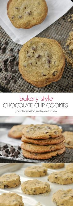 Bakery Style Chocolate Chip Cookies Recipe - a little crispy on the edges and chewy in the middle.  Just perfect!