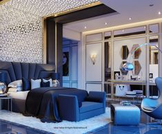 Trendy Home Luxury Glamour Ideas Hotel Room Design, Luxury Bedroom Design, Bedroom Bed Design, Luxury Homes Interior, Modern Interior, Home Interior Design, Modern Furniture, Modern Sofa, Bedroom Furniture