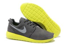 detailed pictures 7fa50 dff02 NIKE ROSHE RUN PREMIUM MEN SHOES WOLF GREY COOL GREY-VOLT  66.38