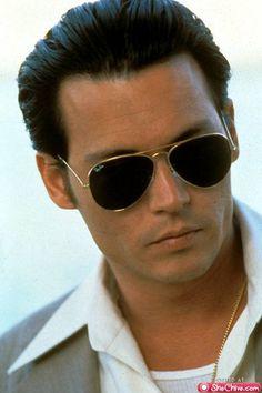 Johnny Depp wearing Ray-Ban Aviator Sunglasses