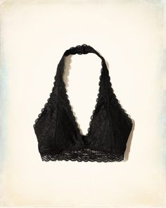 171579604f7 Gilly Hicks Lace Halter Bralette With Removable Pads