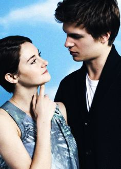 Ansel Elgort and Shailene Woodley photographed by John Russo.