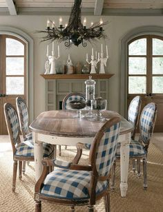 French Provencial Dining Chairs for the Kitchen