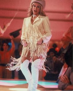Olivia Newton John, Celebrity Boots, Urban Cowboy, Queen Pictures, White Boots, Character Outfits, Female Singers, Celebs, Celebrities