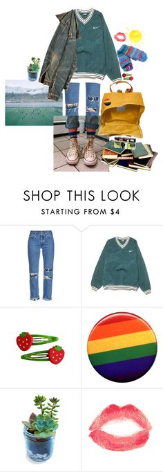 """""""sunny cold"""" by milktop ❤ liked on Polyvore featuring Bliss and Mischief, NIKE, American Eagle Outfitters, Fjällräven, J.W. Anderson, Topshop, Lost Horizons, cute, casual and denim"""