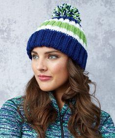 Game Day Knit Hat Free Knit Pattern LW5665