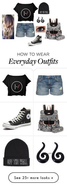 """My everyday outfit"" by thunder-rain-and-lightning on Polyvore featuring Current/Elliott, Vans, Converse, Sakroots, women's clothing, women, female, woman, misses and juniors"