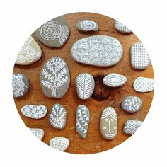 draw on stones with a white paint marker | @artbarblog on instagram