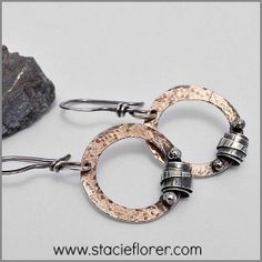 Road Trip Hoops in Brass and Sterling Silver! http://www.stacieflorer.com