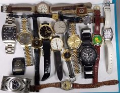 Lot Of 18 Men and Womens Wristwatches Seiko Citizen Timex Casio Fossil Piccard + #Various