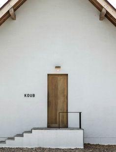 Visual identity for a bakery Koub designed by Japanese design studio Akaoni. Via www.akaoni.org