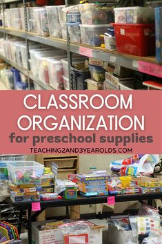 Classroom organization takes time at the beginning, but makes curriculum planning so much easier! Here are our favorite storage tips. #classroom #organization #storage #tips #backtoschool #teacher #preschool #toddler #teaching2and3yearolds Reggio Classroom, Classroom Layout, Classroom Bulletin Boards, Classroom Setting, Classroom Design, Preschool Classroom, Preschool Supplies, Classroom Supplies, Classroom Organization