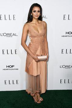 Nina Dobrev in Stella McCartney attends the ELLE Women In Hollywood Awards. #bestdressed
