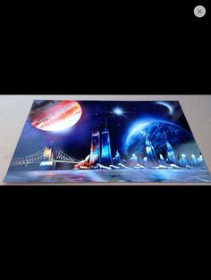 Spray paint art.