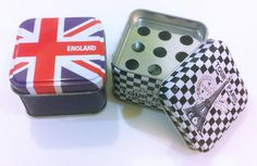 Mini Ashtray England and Paris, for travellers smokers