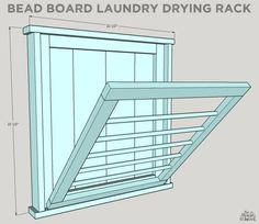 How To Build a DIY Ballard Designs Laundry Drying Rack – Laundry Room İdeas 2020 Laundry Room Drying Rack, Drying Rack Laundry, Clothes Drying Racks, Laundry Room Organization, Laundry Storage, Laundry Room Design, Organizing, Laundry Hanging Rack, Wall Mounted Drying Rack