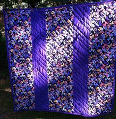 #2 OF 3    Back of the purple quarter log cabin quilt. Had to piece it but I like how it turned out.  Jenn-Alabama