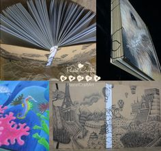 Notebooks/sketchbooks/journals Customized Design por PastelCraftArt