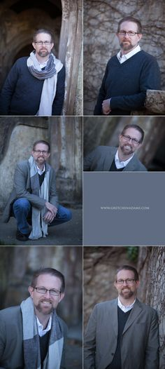 Outdoor business headshots for men SF Bay Area (top left and bottom right) | Casual - Business Headshot - Portrait - Photography - Pose Inspiration - Pose Idea