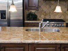 Granite kitchen countertop ~♥~ LOVE THIS COLOR ~♥~