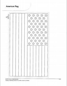 printable american flag coloring page free pdf download