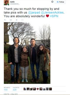 Jensen and Jared with fans on 3/4/2015