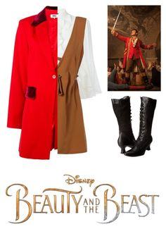 """""""Gaston Girl"""" by fashion-queendom ❤ liked on Polyvore featuring Disney, Alexander McQueen, MM6 Maison Margiela, Ellie Shoes, BeautyandtheBeast and contestentry"""
