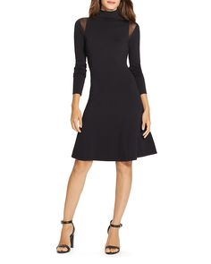 Lauren Ralph Lauren Illusion Shoulder Dress
