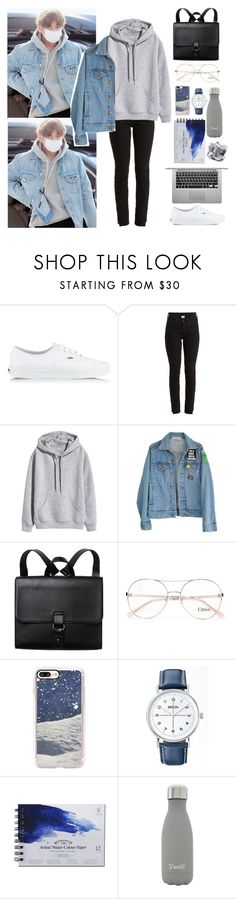 """""""Untitled #230"""" by anessaanne ❤ liked on Polyvore featuring Vans, Vetements, High Heels Suicide, Monki, Chloé, Casetify, Breda, S'well, bts and Teahyung"""