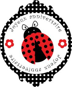 Lady Bidouille: Kit anniversaire coccinelle à imprimer