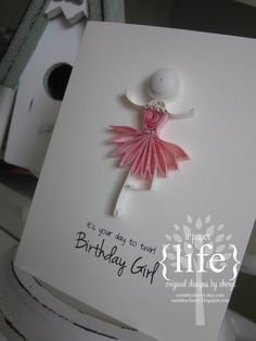 ~ a paper life: ~ quilled ballerinas   Love this for Sophie