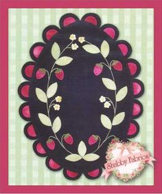 "Strawberry Garden: Strawberry Garden was designed by Ann Weber from the Gingham Girls. Made of felted wool. 21"" x 30"""