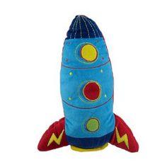 rocket ship throw pillow for a boy's room