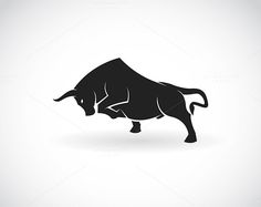 Vector image of an bull by yod67 on @creativemarket