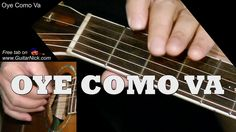 Fingerstyle guitar cover of OYE COMO VA by Santana. Guitar lesson with TAB, sheet music, chords, video tutorial and PDF. Music Chords, Music Guitar, Playing Guitar, Acoustic Guitar, Santana Guitar, Fingerstyle Guitar Lessons, Guitar Tutorial, Learn To Play Guitar, Guitar Collection