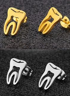 We are out on the hunt for some of the unique dental products, in the world and we back it up with money back guarantee Dentist Art, Teeth Dentist, Gifts For Dentist, Dental Hygiene School, Dental Humor, Dental Assistant, Dental Pictures, Unique Earrings, Stud Earrings
