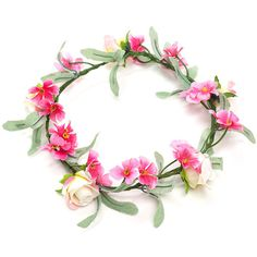 MULTI Festival Fave Flower Crown ($8.50) ❤ liked on Polyvore featuring accessories, hair accessories, hats, fillers, flower crown, hair, multi, wire garland, daisy hair accessories and artificial flower garland
